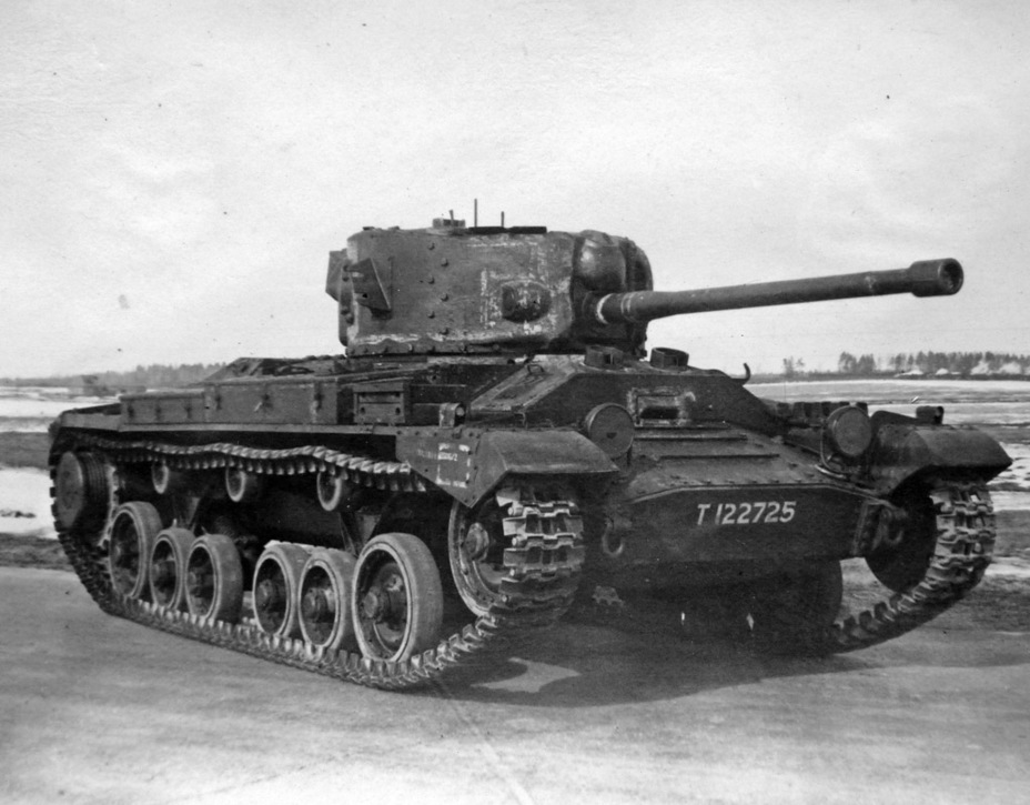 Valentine IX на НИБТ Полигоне, март 1943 года - «Валентин» с длинной пушкой | Военно-исторический портал Warspot.ru